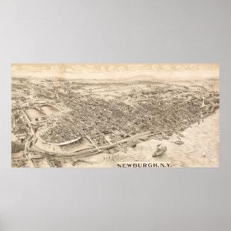 Newburgh, New YorkPanoramic MapNewburgh, NY Poster