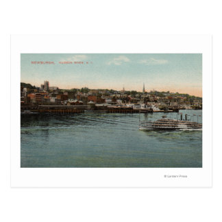 Newburgh, NY - Waterfront view of Hudson River Postcard