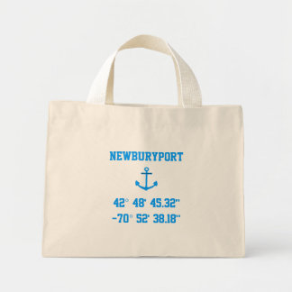 Newburyport MA Latitude and Longitude Tote Bag