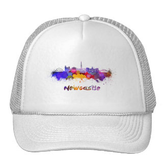 Newcastle skyline in watercolor cap