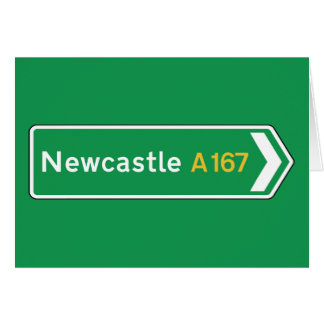 Newcastle, UK Road Sign Card