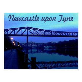Newcastle upon Tyne Blue Bridges Postcard
