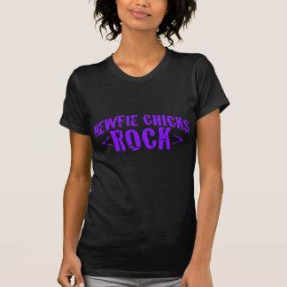 Newfie Chicks Rock Tee Shirt