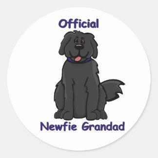 newfie grandad classic round sticker