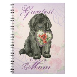 Newfie Heart Mom Spiral Notebook