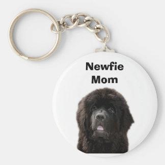 Newfie Mom Keychain