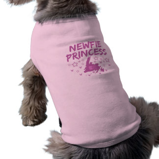 Newfie Princess Newfoundland Sleeveless Dog Shirt