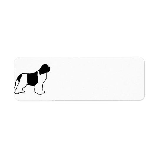 newfie silo white black return address label