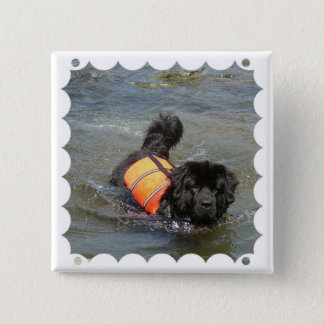 Newfie Water Rescue Pin