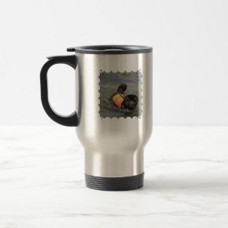 Newfie Water Rescue Travel Mug