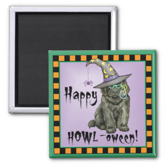 Newfie Witch Square Magnet