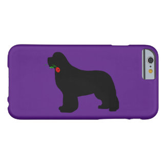 Newfie with a rose phone case