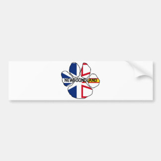 Newfoundland_and_Labrador flag name paw Bumper Sticker