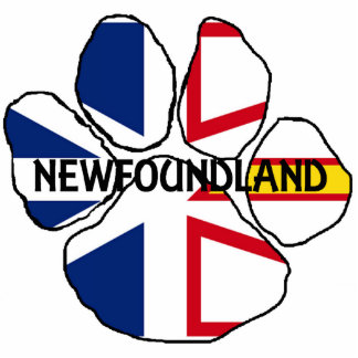 Newfoundland_and_Labrador flag name paw Photo Sculpture Key Ring