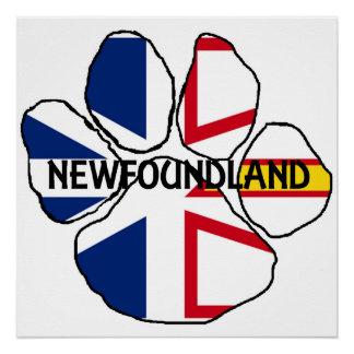 Newfoundland_and_Labrador flag name paw Poster