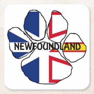 Newfoundland_and_Labrador flag name paw Square Paper Coaster