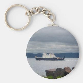 Newfoundland Bell Island Ferry Flanders Basic Round Button Key Ring