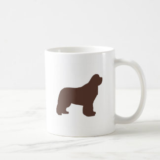 newfoundland brown silhouette coffee mug