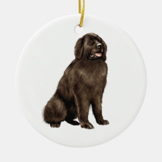 Newfoundland - brown sit ceramic ornament