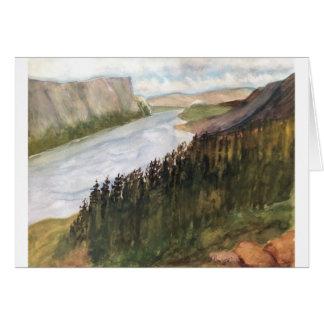 NEWFOUNDLAND CANADA - WATERCOLOR CARD
