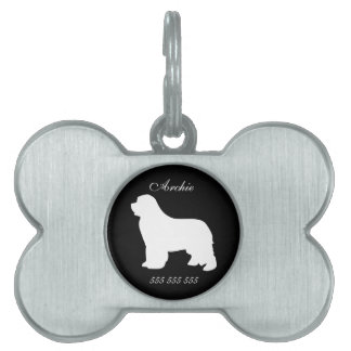 Newfoundland custom name phone no. pet dog id tag