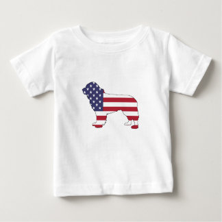 "Newfoundland Dog - ""American Flag"" Baby T-Shirt"
