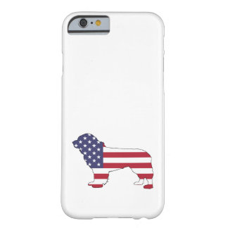 "Newfoundland Dog - ""American Flag"" Barely There iPhone 6 Case"