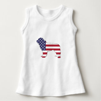 "Newfoundland Dog - ""American Flag"" Dress"