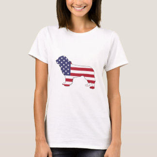 "Newfoundland Dog - ""American Flag"" T-Shirt"