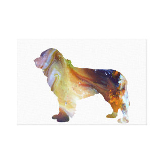 Newfoundland Dog Art Canvas Print