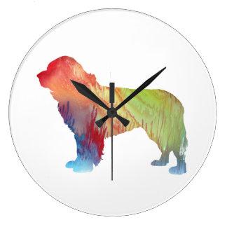 Newfoundland Dog Art Large Clock