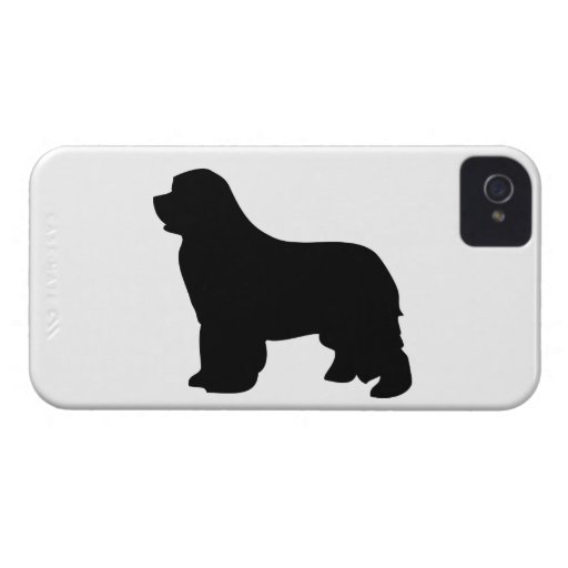 Newfoundland dog blackberry bold case, silhouette