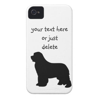 Newfoundland dog blackberry bold case, silhouette Case-Mate iPhone 4 cases