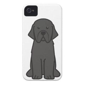 Newfoundland Dog Cartoon iPhone 4 Case-Mate Case