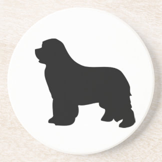 Newfoundland dog coaster, black silhouette, gift coaster