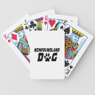 NEWFOUNDLAND DOG DESIGNS BICYCLE PLAYING CARDS
