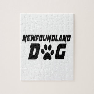 NEWFOUNDLAND DOG DESIGNS JIGSAW PUZZLE