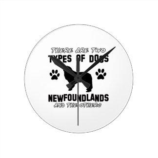 Newfoundland dog Designs Wallclock