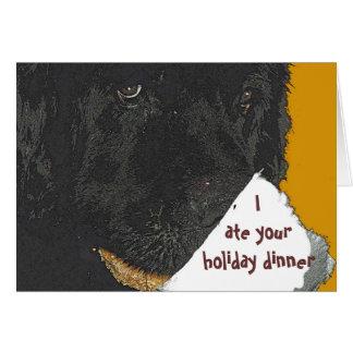 Newfoundland Dog Holiday Card