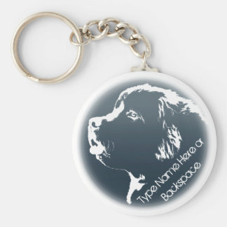 Newfoundland Dog Keychain Newfoundlander Art Gift