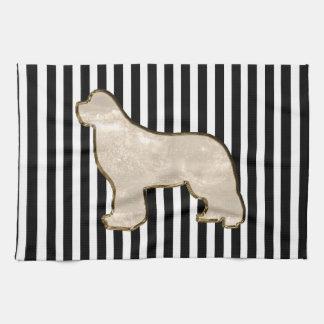 Newfoundland dog kitchen towel
