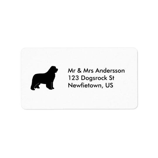 Newfoundland dog label