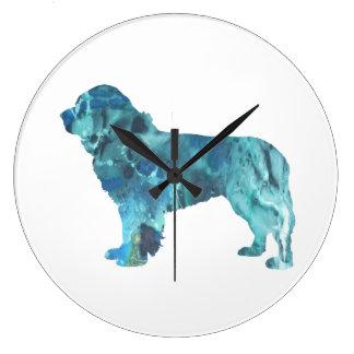 Newfoundland Dog Large Clock