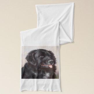 Newfoundland Dog Portrait Scarf