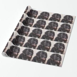 Newfoundland Dog Portrait Wrapping Paper