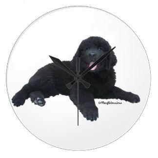 Newfoundland Dog Puppy Wall Clock