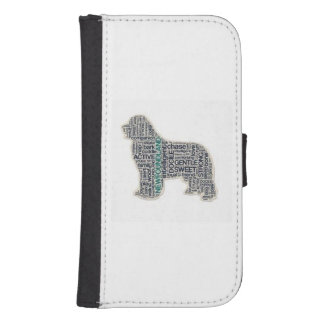 Newfoundland dog samsung s4 wallet case