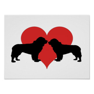 newfoundland dogs poster