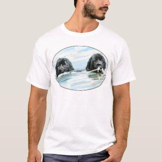 Newfoundland Dogs Swimming T-Shirt