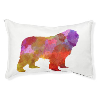 Newfoundland in watercolor pet bed